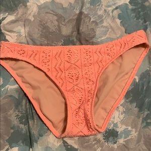 Cute Coral Lace Target Bikini Bottoms